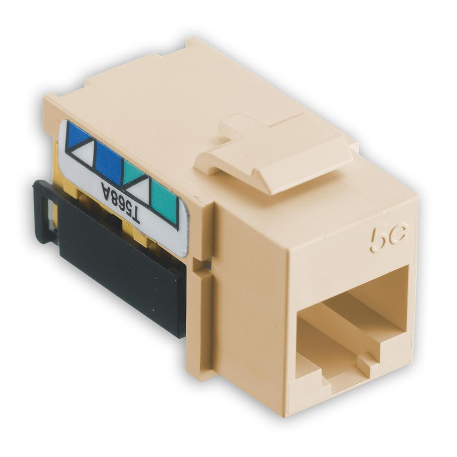 Hubbell NSJ5EI netSELECT« Modular Snap Fit Cat. 5e Jack (single) Ivory