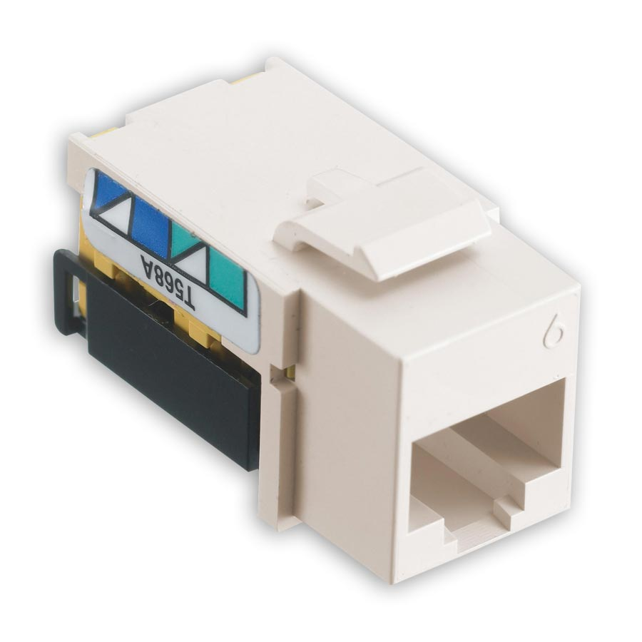 Hubbell NSJ6I netSELECT« Modular Snap Fit Cat. 6 Jack (single) Ivory
