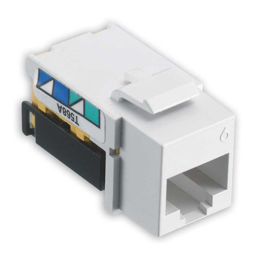 Hubbell NSJ6W netSELECT« Modular Snap Fit Cat. 6 Jack (single) White