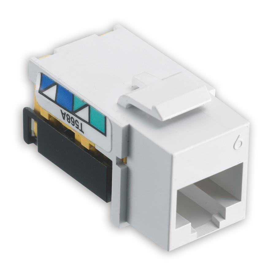 Hubbell NSJ6W25 netSELECT« Modular Snap Fit Cat. 6 Jack (25 pack) White