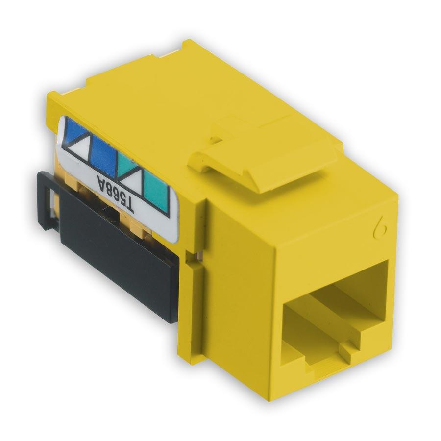 Hubbell NSJ6Y netSELECT« Modular Snap Fit Cat. 6 Jack (single) Yellow