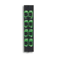 """Hubbell FSPSCA8 APC, SC Simplex, Green, 8 Adapters"""