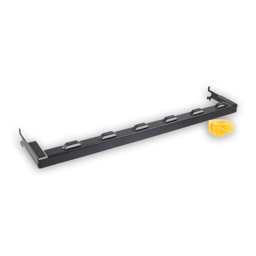 """""""Hubbell PCBLMGT Rear Cable Management Bar for Patch Panels, Black"""""""