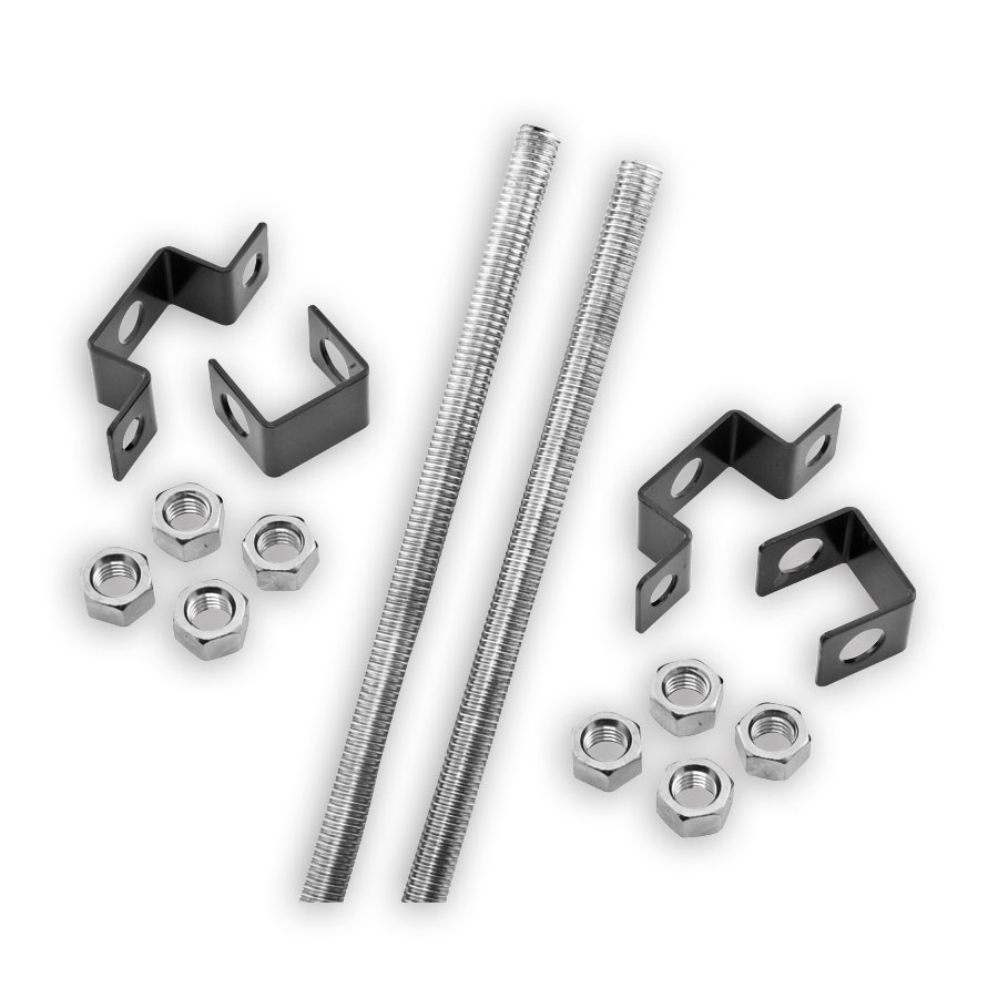 Hubbell HLCMK Ceiling mounting kit with two 6' threaded rods
