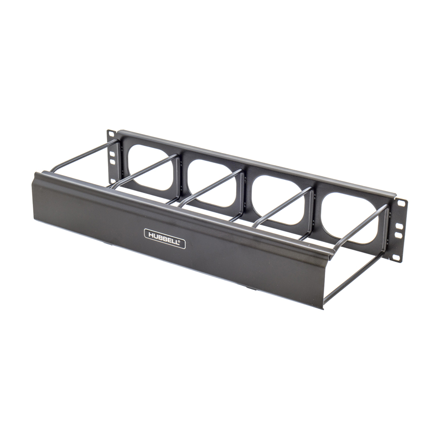 """""""Hubbell HM27C M Series Cable Management 2RU 7ö Front extension, cover included"""""""