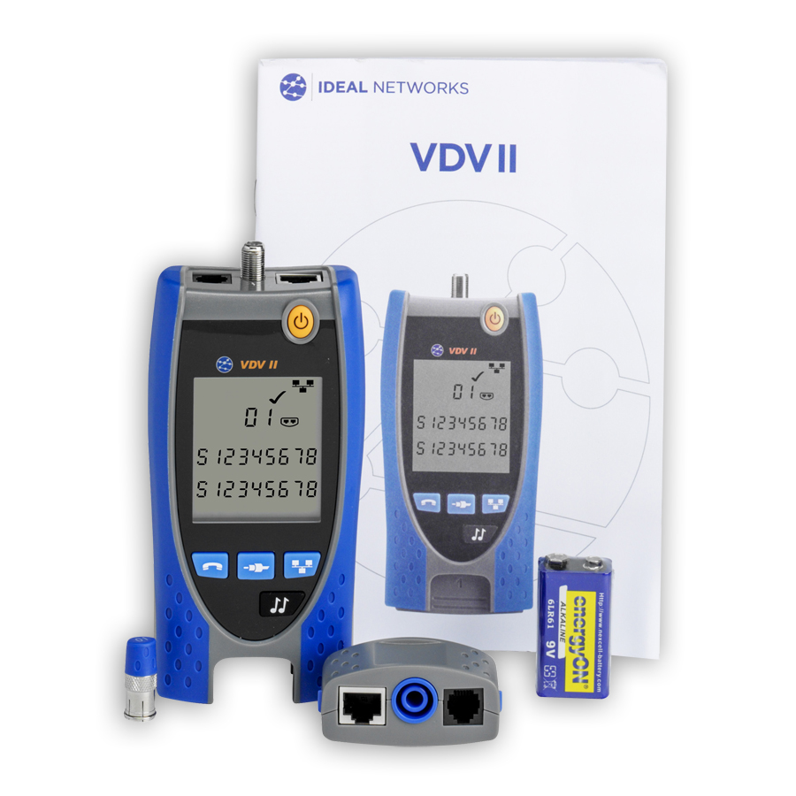 Ideal Vdv Pro Cable Testers Cat6 Wiring Block Kit R158000 Ii Voice Data And Video Verifier