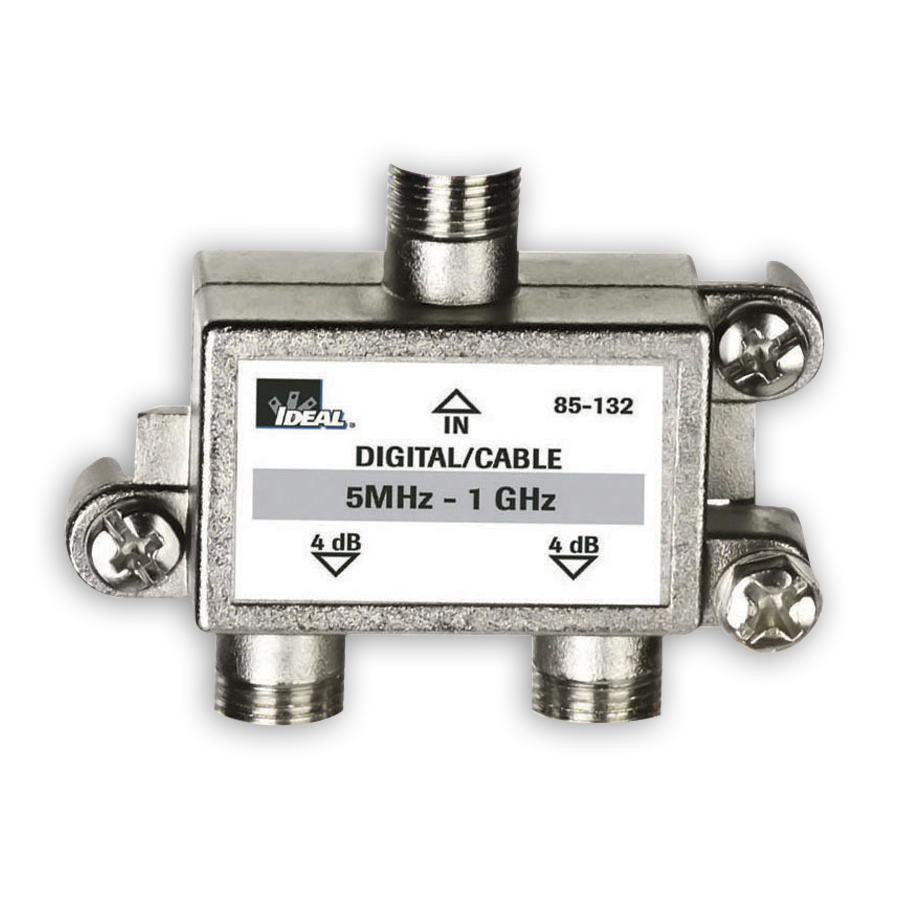 """Ideal 85-132 Cable Splitter, 5HMz - 1GHz, 2-way"""
