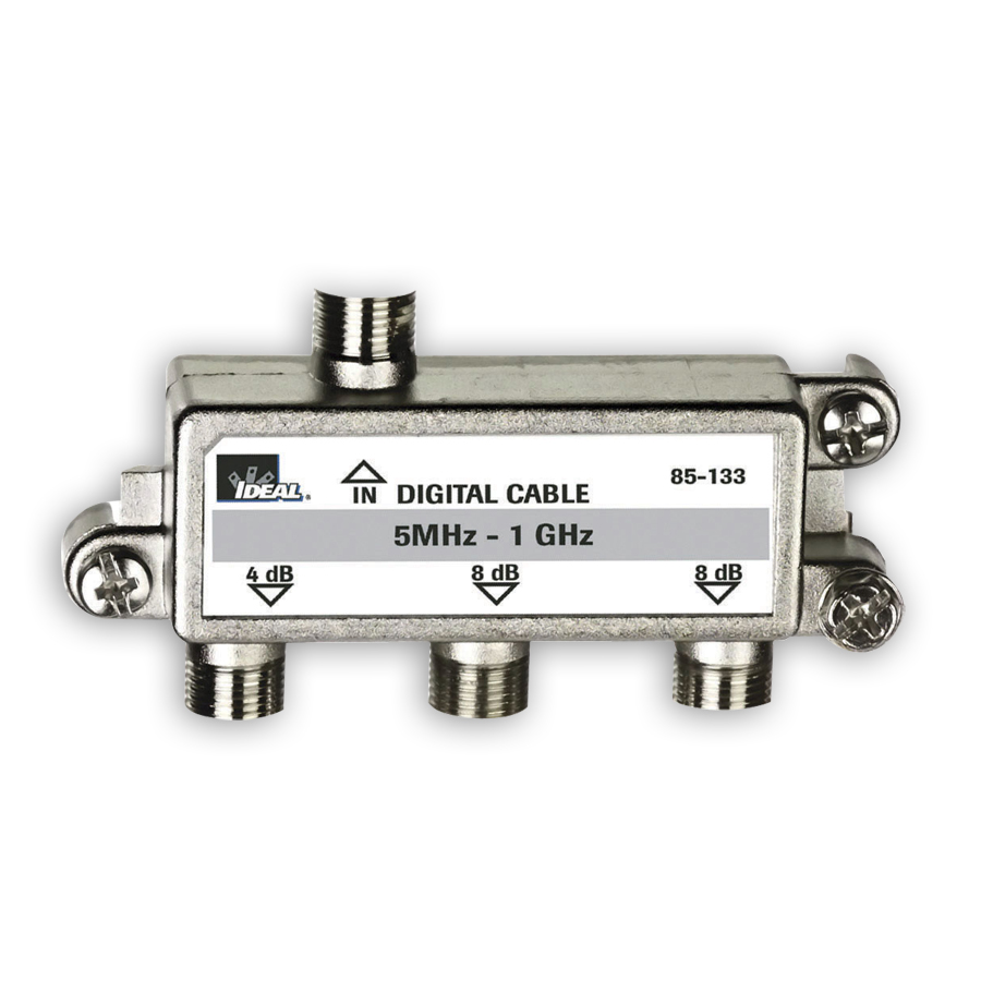 """Ideal 85-133 Cable Splitter, 5HMz - 1GHz, 3-way"""