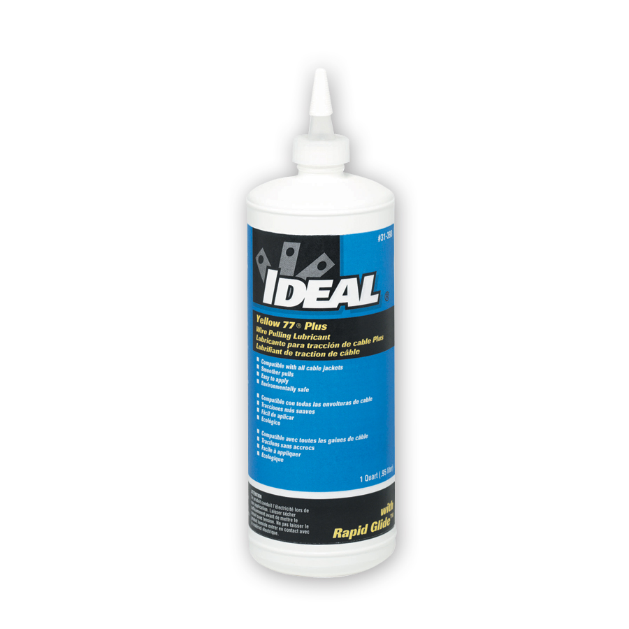 Ideal 31-398 Yellow 77 Plus Wire Lubricant 1 Qt. Squeeze bottle