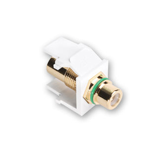 """Leviton 40830-B*V RCA, with Green Stripe"""