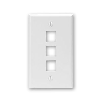 Leviton 41080-3*P 3 port faceplate