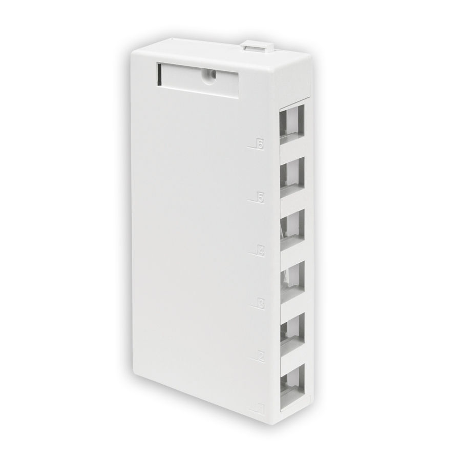 Leviton 41089-6*P 6-Port Surface Mount Box