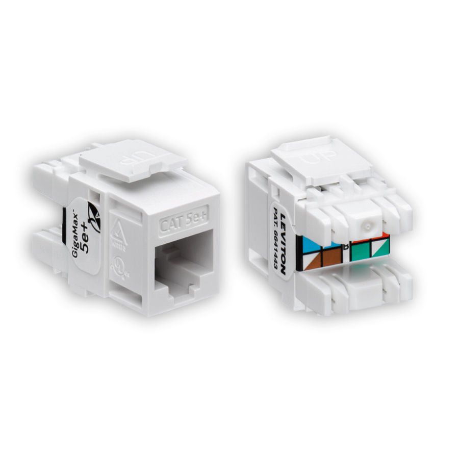 Leviton Cat5e Jack Wiring Diagram Gigamax Electrical Work 5e Quickport Jacks Rh Datacomtools Com Cat 6 Installation