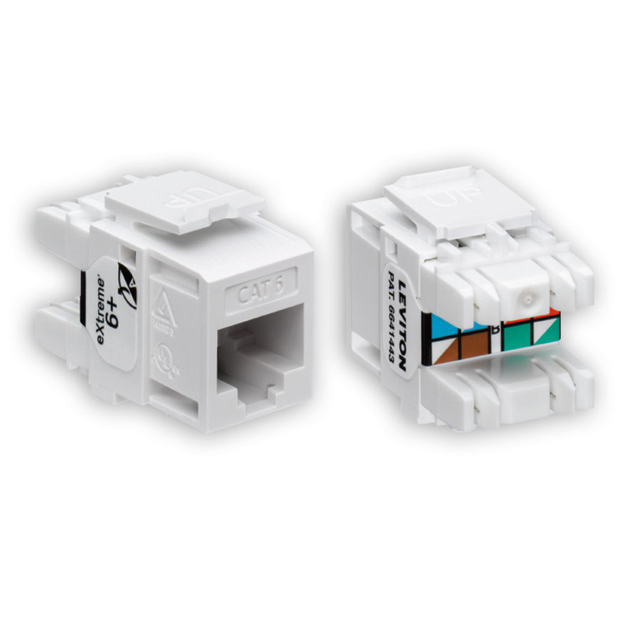 """Leviton 61110-B*6 eXtreme 6+ Connector Quickpack, CAT 6, 25-pack"""