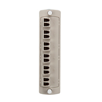"""Leviton 5F100-2IL Plate (beige), 62.5μm MM, Duplex LC, 12-fiber, zirc ceramic sleeve"""
