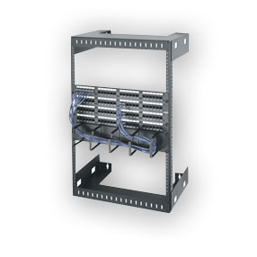 """Middle Atlantic WM-15-12 Wall Mount Open Frame Rack, 12"""" D, 15 space"""