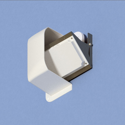 Oberon 1014-00 1-Axis Articulating WAP/Antenna Mount: White cover