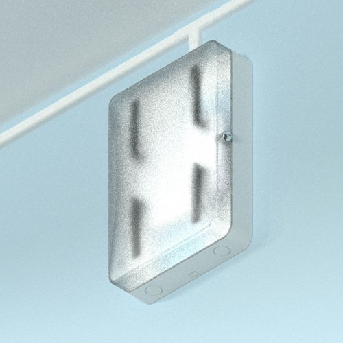 """Oberon 1016-C 18ö ABS WAP Lock-box: T-bar, Translucent door"""