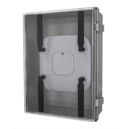 """Oberon 1024-C PBT/Polycarbonate NEMA 4 enclosure for WAP, with hinged, clear door"""