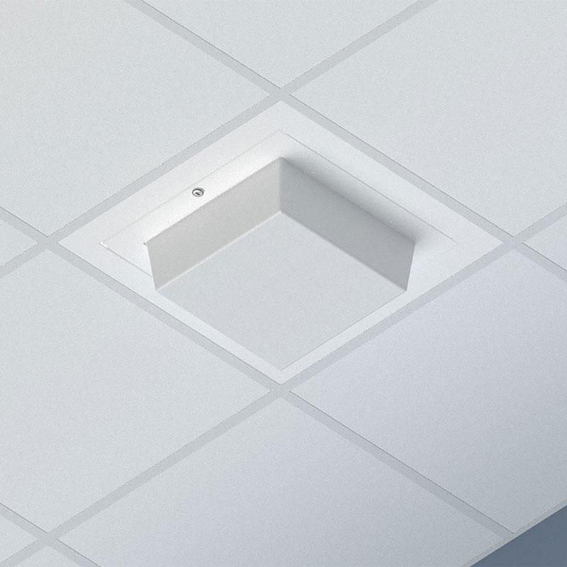 Oberon 1047-DOME Susp Ceiling WAP Enclosure; 14ö x14ö x 4ö ABS dome