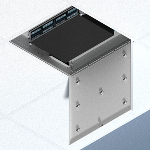 Oberon 1074-04-ANT7 2U Suspended Ceiling Zone Enclosure-Up to 7 antennas in door 4ö back-box