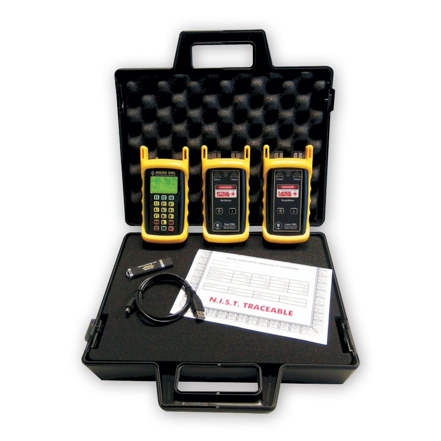 Optical Wavelength Laboratories KIT-M2-D285xx-L213xx Micro OWL 2 / Dual OWL 850 / Laser OWL 1310 Test Kit