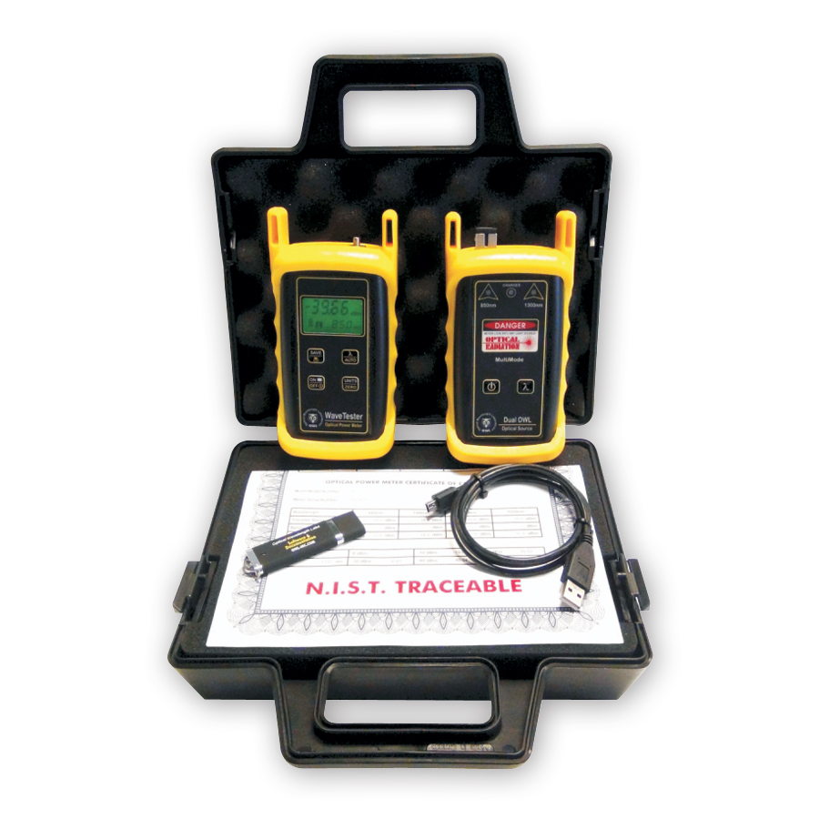 Optical Wavelength Laboratories KIT-WT-D285st WaveTester / Dual OWL 850 Test Kit. ST Connector