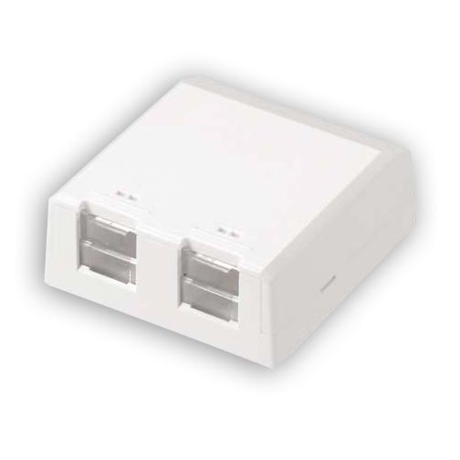 """Panduit CBXS2IW-A Surface mount box with 2 ports. 0.94""""H x 2.40""""W x 2.5""""L"""
