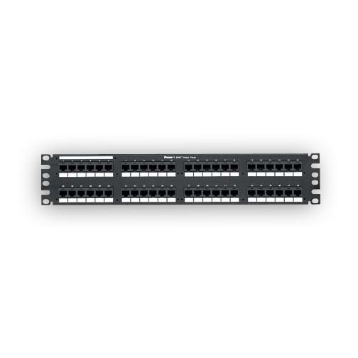 """Panduit DP486X88TGY 48-port, Category 6A, 10 Gb/s patch panel with 48 RJ45 8-position, 8-wire ports. 2 rack spaces"""