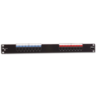 """Siemon HD6-16 16-port flat HD 6 patch panel, T568A/B, 1 RMS"""