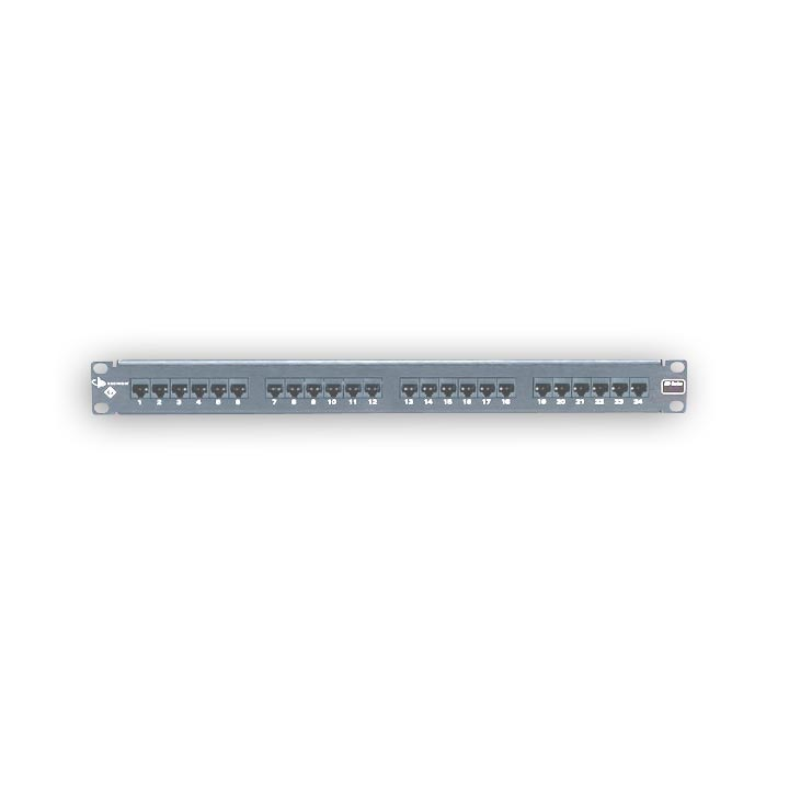 """Siemon HD6-24 24-port flat HD 6 patch panel, T568A/B, 1 RMS"""