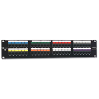 """Siemon HD6-48 48-port flat HD 6 patch panel, T568A/B, 2 RMS"""