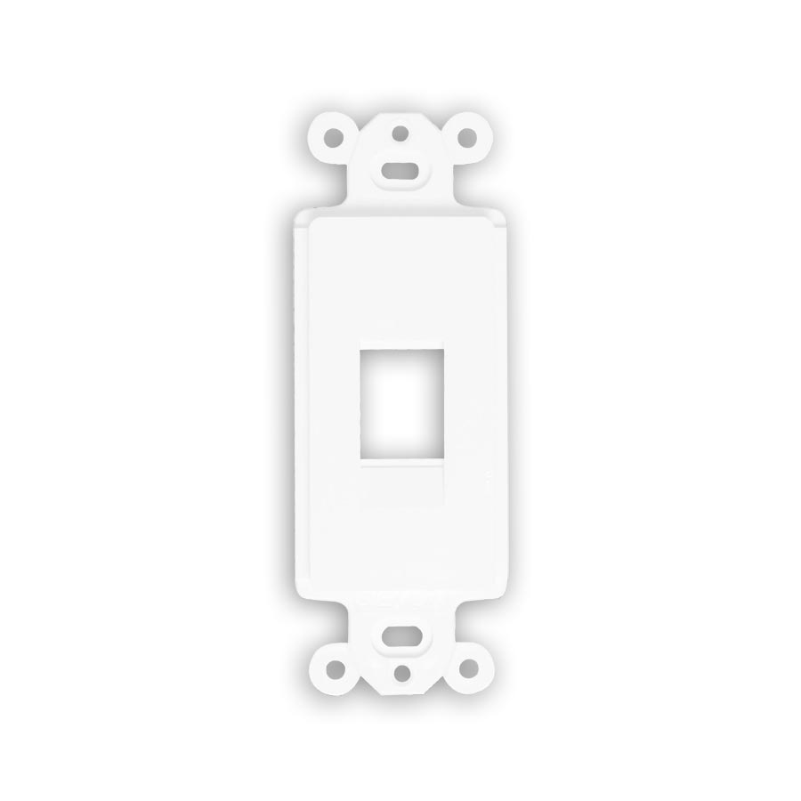 """Siemon MX-D1Z-02 Designer mounting frame, accepts one MAX or Z-Max outlets, White"""