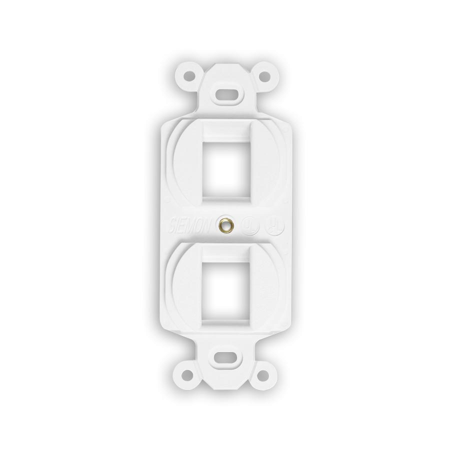 """Siemon MX-E2A-02 Duplex mounting frame, accepts two angled MAX or Z-MAX outlets, White"""