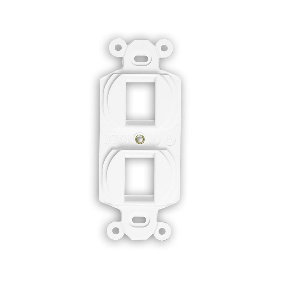 """Siemon MX-E4A-20 Duplex mounting frame, accepts four angled MAX outlets, Ivory"""