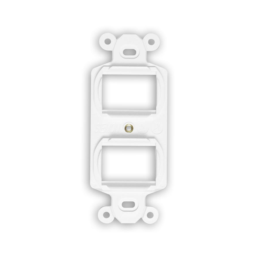 """Siemon MX-E4F-02 Duplex mounting frame, accepts four flat MAX or Z-Max outlets, White"""