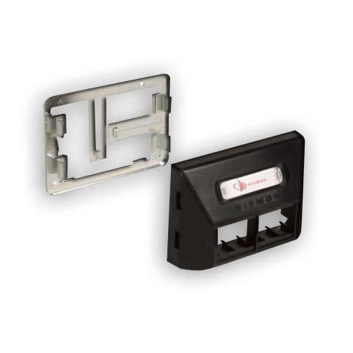 """Siemon MX-UMA-20 MAX Universal Modular Furniture Adapter, Accepts (4) MAX, Z-MAX or TERA outlets. Includes faceplate, mounting frame, label and clear label, Ivory"""