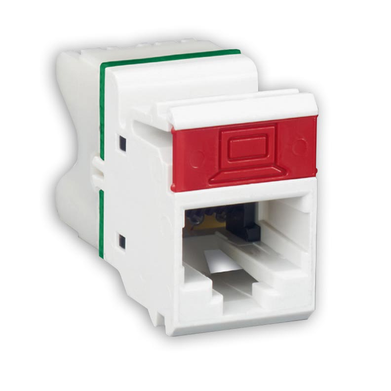 """Siemon MX6-F(XX) Flat module, T568A/B, and rear strain relief cap, Choose color at Checkout"""