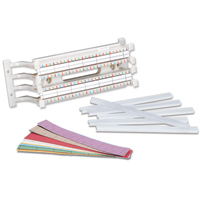 """""""Siemon S110-LBL-(X) 2-, 3-, 4-, and 5-pair marked colored labels, bag of 6"""""""