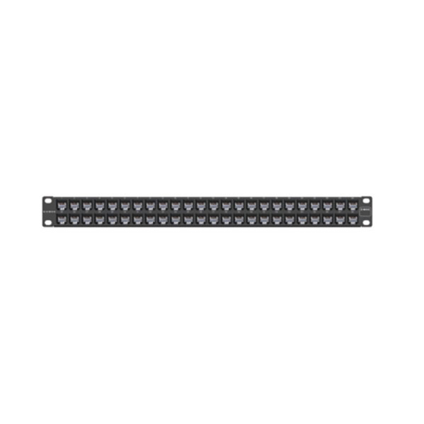 """Siemon Z6-PNL-U48K Z-MAX 48 port category 6 UTP patch panel kit, 1 RMS, black, with jacks"""
