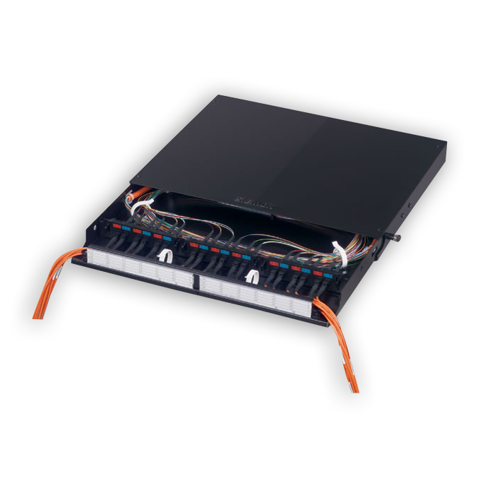 Siemon FCP3-DWR 6-72-port fiber connect panel with sliding tray