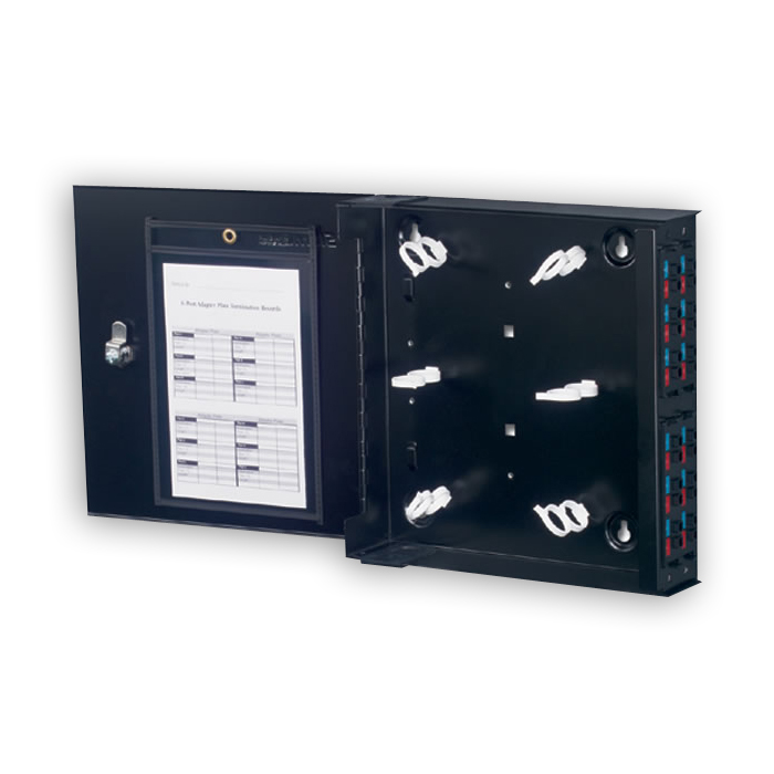 """Siemon SWIC3-(X)-01 Wall mount interconnect center, black"""