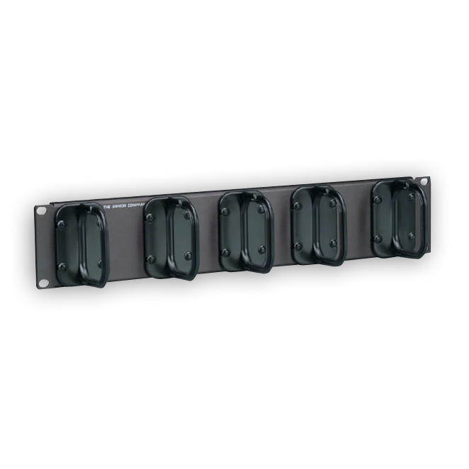 Siemon WM-144-5 2U cable manager with 5 S143 Hangers