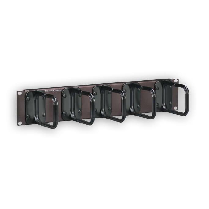 Siemon WM-145-5 2U cable manager with 5 S143 Hangers
