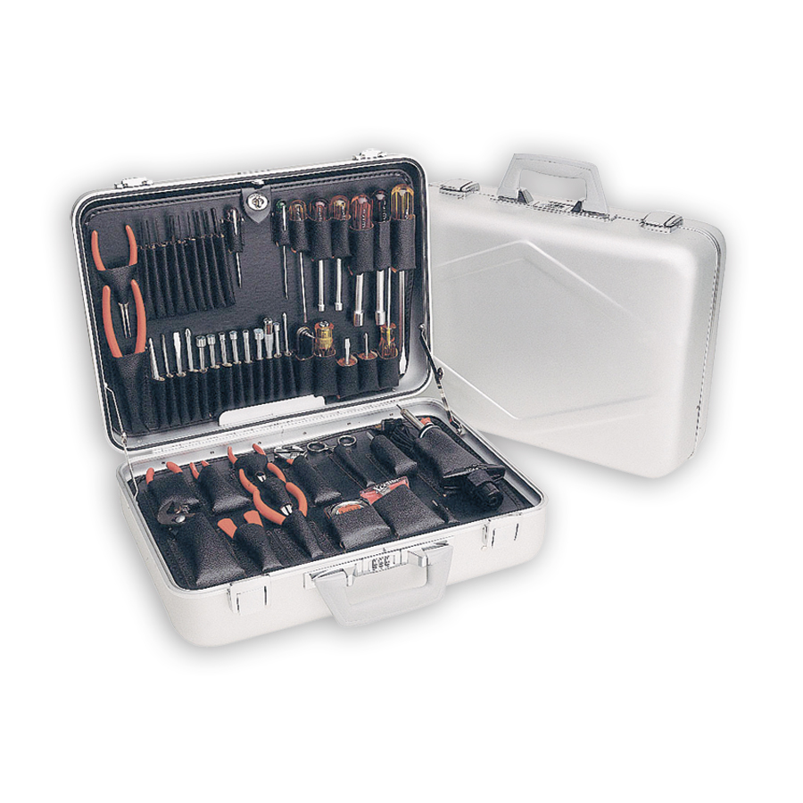 Xcelite TCA150ST Aluminum Attache Tool Case - with Tools