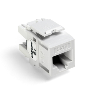 Leviton 61110-RW6 6+ QuickPort Category 6 Jack (White)