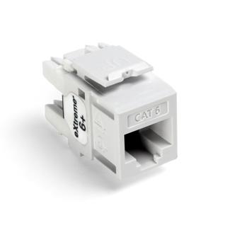 Leviton 61110-RW6 6+ QuickPort Category 6 Jack (White)