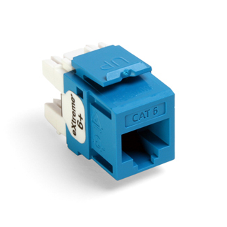 Leviton 61110-RL6 6+ QuickPort Category 6 Jack (Blue)